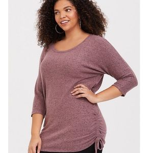 NWT Old Navy sz 4x Cozy Brushed Hacci Ruched Tunic